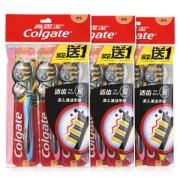 """רק 4.59$ לסט של 9 מברשות שיניים מקוריות שלColgate עם סיבי פחם!! 120 ש""""ח פחות מבארץ!!"""