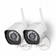 """רק 260 ש""""ח מחיר סופי כולל הכל עד דלת הבית לזוג מצלמות אבטחה חיצוניות מעולות של חברת ZMODO, מתחברות ב IP לאפליקציה ייעודית כוללות מיקרופון דו כיווני וחיישני תאורת לילה!!"""