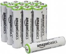 """רק 20$\72 ש""""ח מחיר סופי כולל הכל עד דלת הבית ל 12 סוללות AAA נטענות מעולות שלAmazonBasics!!"""