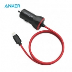 רק 4.39$ עם הקופון MAY10UD למטען + כבל לרכב איכותיים לאייפון מבית אנקר Anker PowerDrive 12W!!