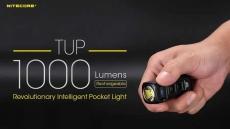 רק 33$ עם הקופון BGTUPC לפנס לד קומפקטי עוצמתי נטען NITECORE TUP LED 1000LM!!