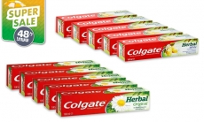 """דיל מקומי: מחיר מיוחד ל-48 שעות: 10 משחות שיניים קולגייט בנפח 100 מ""""ל ליחידה, שני סוגים לבחירה ב-59.90 ש""""ח!!"""