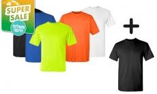 דיל מקומי: מחיר מיוחד ל-48 שעות: סט 6 חולצות שרוול קצר מנדפות זיעה בטכנולוגיית COOL DRY ב-99.9 ₪, כולל משלוח חינם!!