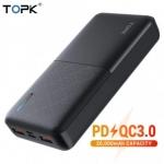 רק 27$ עם הקופון TOPK529 לסוללה הניידת המהירה TOPK 20000mAh QC3.0!!