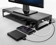 רק 47.99$ עם הקופון BGVDIL1 למעמד למסך המחשב עם חיבורי USB שיעשה לכם סדר בשולחן העבודה!!