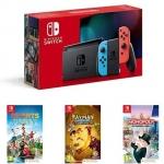 """רק 332 פאונד\1420 ש""""ח מחיר סופי כולל הכל עד דלת הבית לקונסולת משחק Nintendo Switch + שלושה משחקים!!"""