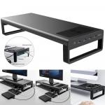 רק 64.99$ עם הקופון הבלעדי BGsmartbuy83 למעמד למסך המחשב עם חיבורי USB ומשטח טעינה אלחוטית שיעשה לכם סדר בשולחן העבודה!!