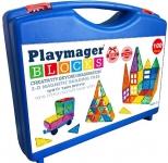 """רק 95 ש""""ח עם הקופון הבלעדי SmartBuyKSP לחלקי מגנט להרכבה בתלת מימד 100 חלקים במזוודה יוקרתית Playmager!!"""