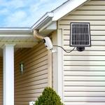 רק 20.99$ עם הקופון BGde57e3 לפאנל סולארי מתכוונן 360 מעלות למצלמות אבטחה Adjustable 5V 3.3W Solar Panel!!