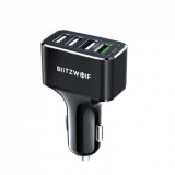 רק 8.89$ למטען המהיר 4 כניסות העוצמתי לרכב מבית בליצוולף BlitzWolf BW-SD3!!