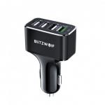 רק 8.99$ עם הקופון הבלעדי BGSmartbuyD3 למטען המהיר 4 כניסות העוצמתי לרכב BlitzWolf BW-SD3!!