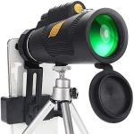 רק 15.99$ עם הקופון BG96d092 לטלסקופ מונוקולר עם ראיית לילה וחצובה לטלפון Moge 12×50!!