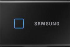 """רק 217$\710 ש""""ח מחיר סופי כולל הכל עד דלת הבית לכונן SSD נייד Samsung T7 Touch בנפח 1TB סמסונג!! בארץ המחיר שלו 900 ש""""ח!!"""