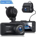 """רק 75.9$\255 ש""""ח מחיר סופי כולל הכל עד דלת הבית למצלמת הרכב הכפולה קדימה ואחורה הנהדרת TOGUARD 1080P!!"""