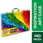 """רק 22.69$\75 ש""""ח (משלוח חינם בהגעה לסכום כולל של 49$ ומעלה) למזוודה ענקית 140 חלקים של קריולה Crayola Inspiration Art!!"""