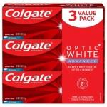 """רק 10.96$\36 ש""""ח (משלוח חינם בהגעה לסכום כולל של 49$ ומעלה) לשלישית משחת השיניים המלבינה מבית קולגייט Colgate Optic White Advanced!! בארץ זה המחיר של יחידה אחת!!"""