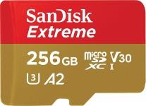 """רק 47$\150 ש""""ח מחיר סופי כולל הכל עד דלת הבית לכרטיס הזכרון העמיד הנהדר מבית סאנדיסק SanDisk 256GB Extreme microSD!! בארץ המחיר שלו 250 ש""""ח!!"""