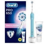 """רק 55 ש""""ח מחיר סופי כולל הכל עד דלת הבית למברשת השיניים החשמלית הנהדרת Oral-B Pro 650!!"""