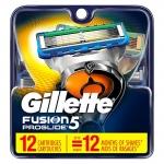 """רק 33.9$\115 ש""""ח מחיר סופי כולל הכל עד דלת הבית ל 12 סכינים Gillette Fusion5 ProGlide!! כחצי מחיר מבארץ!!"""
