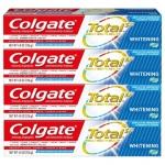 """רק 6.21$\20 ש""""ח (משלוח חינם בהגעה לסכום כולל של 49$ ומעלה) למארז 4 משחות שיניים קולגייט טוטאל הלבנה Colgate Total Whitening Toothpaste Gel!!"""