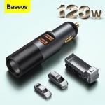 רק 17.39$ עם הקופון BG4bdcec למטען מהיר לרכב עם חיבור מצת נוסף Baseus 120W!!