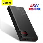 רק 30$ לסוללה הניידת העוצמתית והמהירה מבית באסאוס Baseus 20000mAh 45W התומכת בכל טכנלוגיות הטעינה המהירה!!