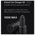 רק 20.55$ למטען המהיר העוצמתי הכפול לרכב מבית שיאומי Xiaomi 100W היכול להטעין גם לפטופים!!