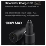 רק 18.99$ למטען המהיר העוצמתי הכפול לרכב מבית שיאומי Xiaomi 100W היכול להטעין גם לפטופים!!