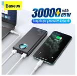 רק 51.99$ עם הקופון BGb9cada לסוללה הניידת העוצמתית המעולה מבית באסאוס Baseus 30000mAh 65W המסוגלת להטעין גם לפטופים + כבל איכותי תואם!!