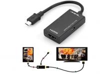 """רק 2.59$ עם הקופוןGBISRAFF11 למתאםMicro USB to HDMI!! בארץ נמכר ב 150 ש""""ח!!"""