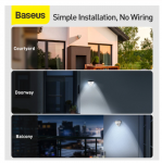 רק 31.85$ ל 4 מנורות LED סולאריות עם חיישן קרבה מבית באסאוס Baseus!!