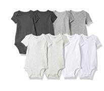 """רק 28$\100 ש""""ח מחיר סופי כולל הכל עד דלת הבית לסט 8 בגדי גוף לתינוק של Carter's בצבעים שחור, לבן אפור ובמבחר מידות לבחירה!!"""