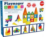 """דיל מקומי: רק 89 ש""""ח למארז 100 חלקי מגנט להרכבה בתלת מימד Playmager!!"""