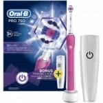 """רק 135 ש""""ח למברשת השיניים החשמלית Oral-B Pro 750 כולל נרתיק נסיעות מ KSP!!"""