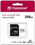 """דיל מקומי: רק 132 ש""""ח לכרטיס זכרון Transcend 300S Micro SDXC – נפח 256GB – עם מתאם SD!! יותר זול מאמזון!!"""