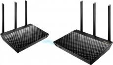"""דיל מקומי: רק 399 ש""""ח לזוג יחידות ראוטר Asus RT-AC67U 802.11ac AC1900 AiMesh Gigabit 1900Mbps!!"""