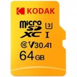 רק 7.69$ עם הקופון BGKD87108 לכרטיס הזכרון המעולה Kodak High Speed U3 TF / Micro SD 64GB!!
