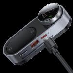 רק 24.99$ עם הקופון BG5bb548 למשדר בלוטוס סולרי הכולל חריץ זכרון לניגון MP3 וחיבור טעינה מהירה לטלפון Baseus Magnetic Solar!!